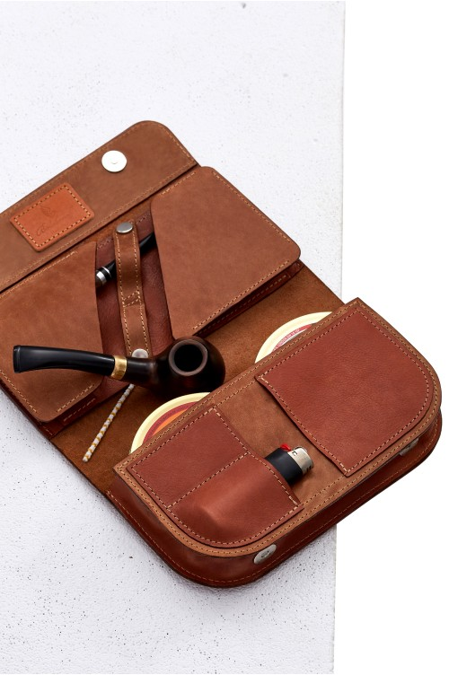 Double Pipe Case Caramel